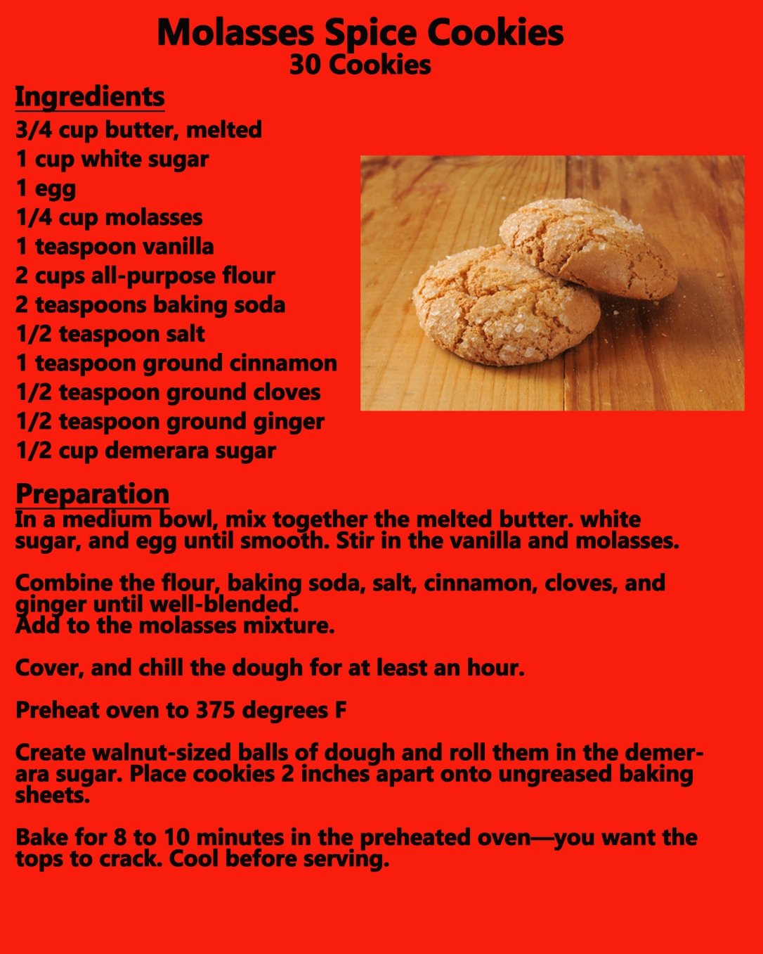 molasses spice cookies recipe